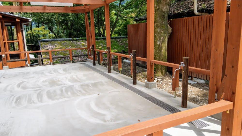 調音の滝公園の水洗い場